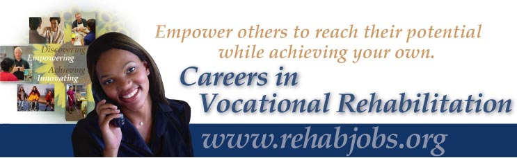 This is the headline photo montage illustrating rehabilitation careers